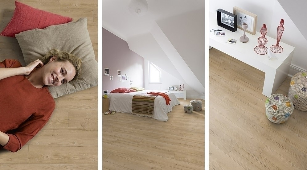 Gerflor Senso Designboden SK Oak Pine Natural 6 selbstklebende Vinyl Dielen Planken