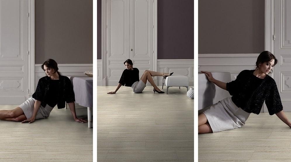 Gerflor Senso Designboden SK Travertine Natural selbstklebende Vinyl Dielen