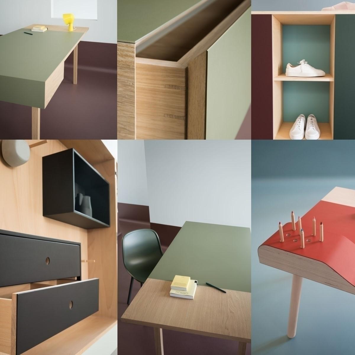 Forbo Furniture Linoleum midnight blue 4181 Möbel und Tischlinoleum Desktop