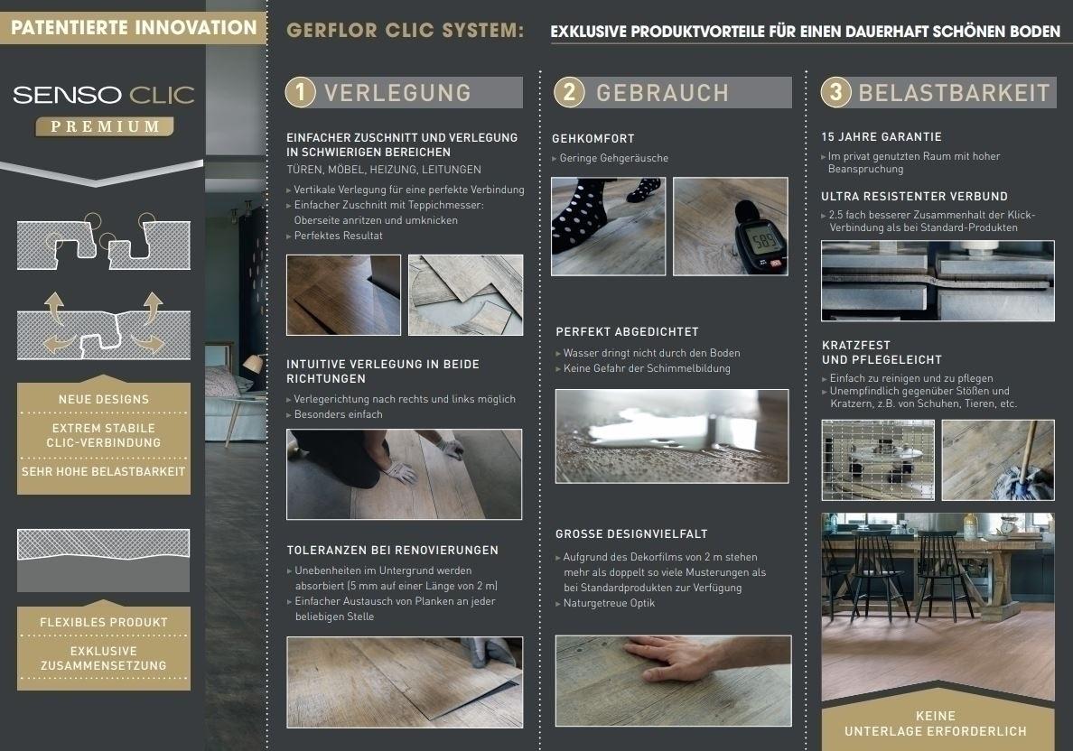 Gerflor Senso Premium Clic KARIBA DARK Designboden vertikales Klicksystem