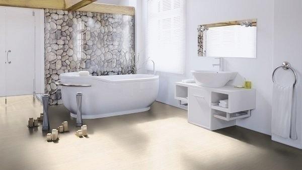 Wineo 1000 Purline Bioboden Click Mocca Cream Stone Fliesen mit Klicksystem