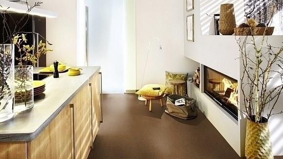 Wineo Purline Eco Bioboden Rolle Chocolate Chip Residenz Bahnenware