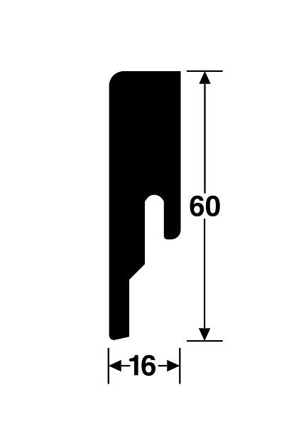 Wineo Sockelleiste 60 x 16 x 2380 mm weiß oder im passenden Dekor des wineo Bodenbelages
