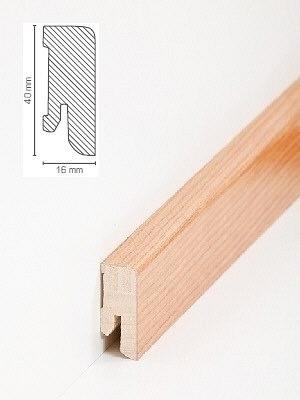 Südbrock Sockelleiste Holzkern Kirsche lackiert mit Echtholz furniert 16 x 40 mm