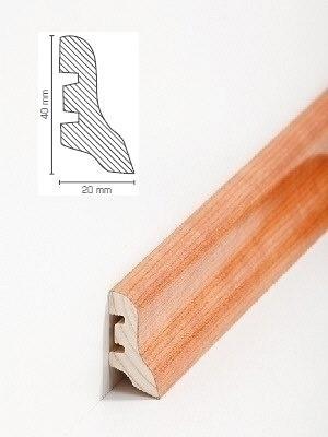 Südbrock Sockelleiste Holzkern Kirsche lackiert Holzkern mit Echtholz furniert 20 x 40 mm