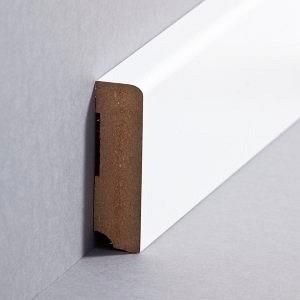 Südbrock Sockelleiste weiß Fußleiste, MDF-Kern mit Folie ummantelt 19 x 80 mm
