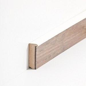 Südbrock Sockelleiste Creme Sockelleiste-Kern mit Dekorfolie für Designboden 13 x 56 mm