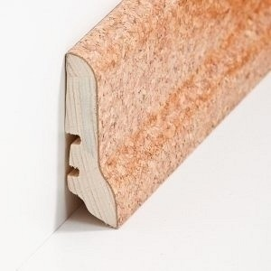 Südbrock Sockelleiste Holzkern Kork schlicht Kork ummantelt, lackiert 20 x 40 mm