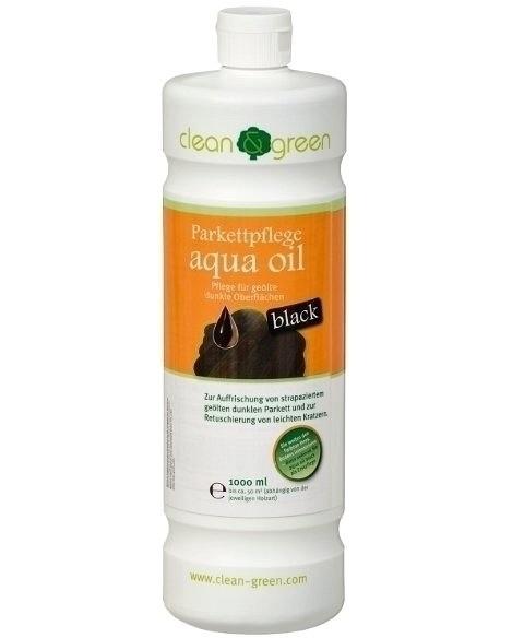 Haro Bodenpflege schwarz clean and green Parkettpflege aqua oil black