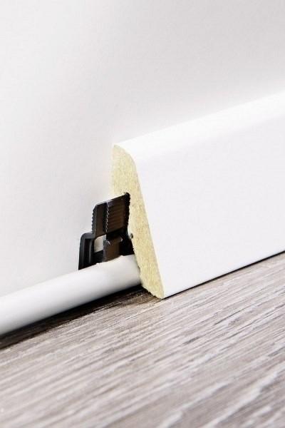 Wineo Sockelleiste 19 x 58 x 2400 mm weiß oder passendes Dekor zu wineo Designböden