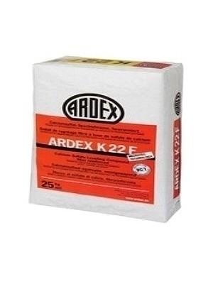 Ardex Spachtelmasse K22F faserarmierte Spachtelmasse zum Ausgleichen von 3-50 mm in einem Arbeitsgang Preis pro kg, PE-Sack 25 kg professioneller Multi-Vorstrich von Bauchemie-Hersteller Ardex HstNr: K22F