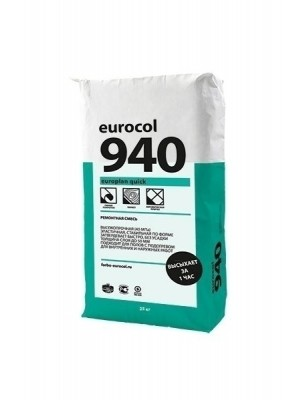 Forbo eurocol Spachtelmasse 940 Europlan Quick Ausgleichsmasse Zement schnellhärtend standfest bis 50 mm, 25 kg günstig online kaufen von Bauchemie Hersteller Forbo eurocol, HstNr.: 110427