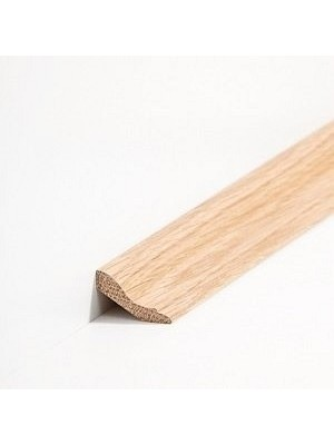 Südbrock Sockelleiste Massivholz Eiche lackiert Massivholz Hohlkehlleiste, Profiliert
