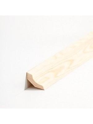 Südbrock Sockelleiste Hohlkehlleiste Kiefer lackiert Massivholz kantiges Profil