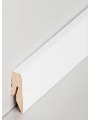 Südbrock Sockelleiste weiß lackiert Fußleiste, MDF-Kern mit Dekorfolie ummantelt
