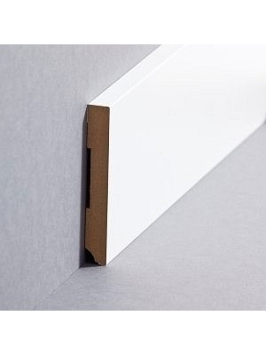 Südbrock Sockelleiste weiß Fußleiste, MDF-Kern mit Folie ummantelt 10 x 80 mm