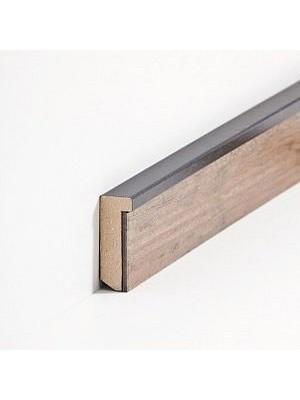Südbrock Sockelleiste MDF Schwarz Fussleiste zum Einkleben von Designboden