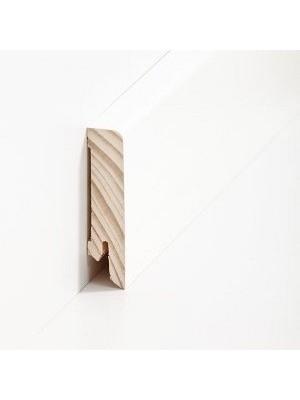 Südbrock Sockelleiste Holzkern decked weiß foliert mit Echtholz furniert 16 x 60 mm