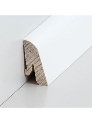 Südbrock Sockelleiste Holzkern decked weiß mit Echtholz furniert 19 x 38 mm