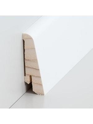 Südbrock Sockelleiste Holzkern decked weiß lackiert mit Echtholz furniert 20 x 58 mm