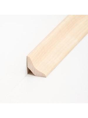 Südbrock Sockelleiste Holzkern Esche lackiert Hohlkehlleiste mit Echtholz furniert 26 x 26 mm