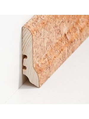 Südbrock Sockelleiste mit Kork ummanteltem Holzkern, lackiert Kork grob 20 x 60 mm, Länge 2500 mm, günstig Leisten Sockel Profile online kaufen von Hersteller Südbrock HstNr: sbs226052