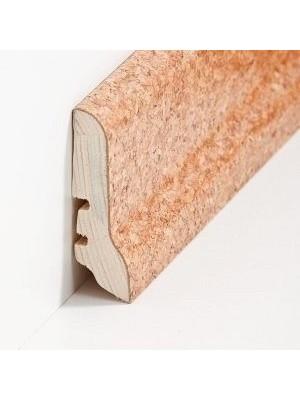 Südbrock Sockelleiste Holzkern Kork schlicht Kork ummantelt, lackiert