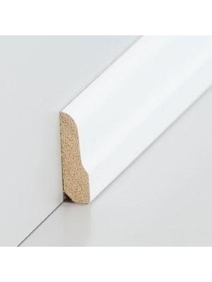 Südbrock Sockelleiste Vorsatz decked weiß Massivholz Vorsatzleisten, Profiliert, Abachi sbs82631