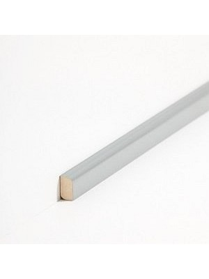 Südbrock Sockelleiste Vorsatz Dunkelgrau Massivholz Vorsatzleisten, Abachi sbs82243