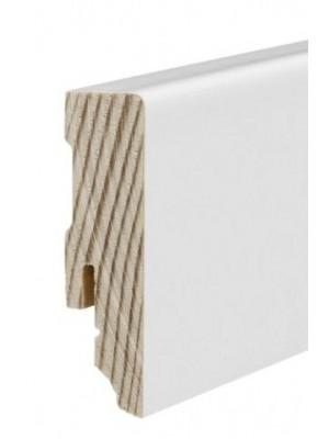 Haro Sockelleiste Haro Echtholz weiß 16 x 58 x 2700 mm, günstig, HstNr: 409835 *** lieferbar nur zusammen mit Bodenbelag-Bestellung von diesem Hersteller bzw. über EUR 250 Warenwert ***