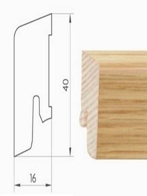 Weitzer Sockelleiste furniert passend zu bestelltem Weitzer Parkett und nur in Verbindung damit lieferbar, Maße: 16 x 40 x 2500 mm, günstig Bodenbelag-Zubehör online kaufen, HstNr: KF40
