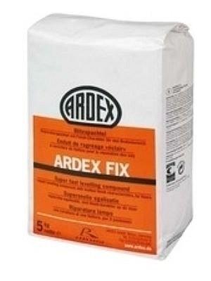 Ardex Spachtelmasse FIX Blitzspachtel Reparaturspachtel mit Finish-Charakter für den Bodenbereich auf Zement-Basis Preis pro kg, 5kg pro Eimer Verbrauch 0,88kg pro m² bei 1 mm Stärke von Bodenbelag-Hersteller Ardex HstNr: FIX