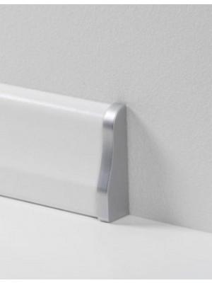 Parador Sockelleisten Ecken Alu-Optik, lieferbar nur in Verbindung mit Sockelleisten-Bestellung Abschlusskappen Typ 2 für SL 4