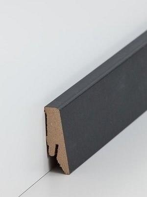Südbrock Sockelleiste MDF Fussleiste, MDF-Kern mit Dekorfolie ummantelt Schwarz 18 x 58 mm, Länge 2,50 m, günstig Leisten Sockel Profile online kaufen von Hersteller Südbrock HstNr: sbs7185839