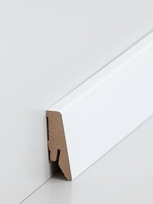 Südbrock Sockelleiste MDF Fussleiste, MDF-Kern mit Dekorfolie ummantelt Hochglanz Weiß 18 x 58 mm, Länge 2,50 m, günstig Leisten Sockel Profile online kaufen von Hersteller Südbrock *** ACHTUNG - lieferbar ab 80 EUR Warenwert Sockelleisten *** HstNr: sbs7185841