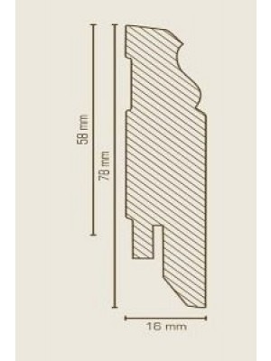 Südbrock Sockelleiste weiß Fußleiste, MDF-Kern mit Dekorfolie ummantelt