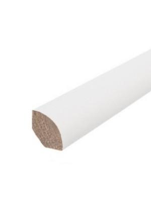 Haro Sockelleiste Viertelstab Echtholz weiß foliert 14 x 14 x 2400 mm