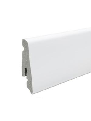 Haro Sockelleiste Stecksockelleiste weiß foliert wasserfest 13,5 x 58 x 2400 mm