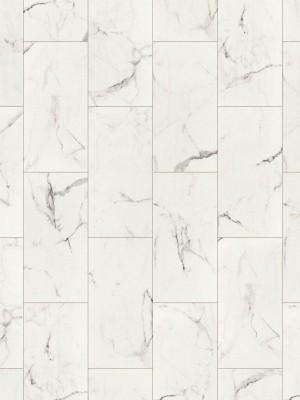 HARO DISANO SmartAqua Rigid-Klick-Boden Piazza 4V Marmor weiß Steinstruktur Designboden Blauer Engel 6,5 x 631 x 313 mm, mit integrierter Trittschalldämmung und authentischer 4V-Fuge, *** Lieferung ab 15 m² bzw. 350 EUR Warenwert ***, HstNr.: 538973