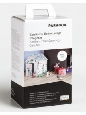 Parador Bodenpflege Designboden Pflegeset für Vinyl-Designböden im Set bestehend aus 750 ml Vollpflege matt, 750 ml PU Reiniger, Pad weiß, Pflegeanleitung für Vinyl-Designböden zur Reinigung und Pflege HstNr: P1595634