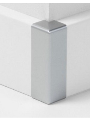 Parador Sockelleisten Ecken Außenecken Typ 2 für SL 18 Alu-Optik, lieferbar nur in Verbindung mit Sockelleisten-Bestellung VE = 2 Stk. im Päckchen günstig Leisten Sockel Profile online kaufen von Bodenbelag-Hersteller Parador HstNr: P1465360a *** nur lieferbar nur in Verbindung mit Sockelleisten-Bestellung ***