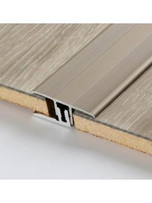 Parador Übergangsprofil Aluminium-Profil Edelstahl  für Laminat- und Vinyl-Designböden, Länge 1000 mm, günstig Profile kaufen von Bodenbelag-Hersteller Parador HstNr: 1740058  ***  Lieferbar nur in Verbindung mit Parador Bodenbelag-Bestellung ***
