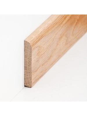 Südbrock Sockelleiste Massivholz Eiche lackiert Massivholz Holz-Fussleiste, Oberkante abgerundet