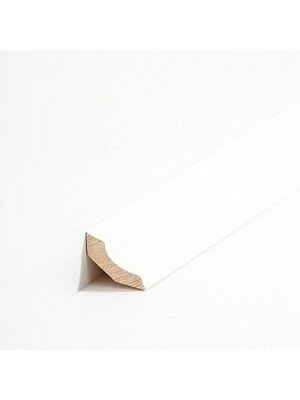Südbrock Sockelleiste Hohlkehlleiste Kiefer decked weiß lackiert Massivholz kantiges Profil