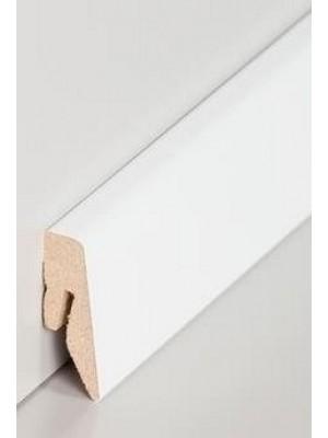 Südbrock Sockelleiste Hochglanz weiß Fußleiste, MDF-Kern mit Dekorfolie ummantelt