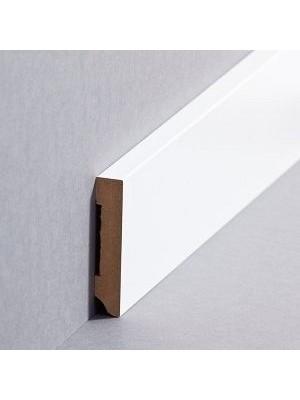 Südbrock Sockelleiste weiß Fußleiste, MDF-Kern mit Folie ummantelt 10 x 58 mm