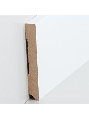 Südbrock Sockelleiste weiß Fußleiste, MDF-Kern mit Folie ummantelt 13 x 110 mm