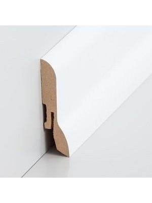 Südbrock Sockelleiste weiß Fußleiste, MDF-Kern mit Dekorfolie ummantelt 20 x 60 mm