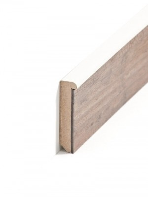 Südbrock Sockelleiste weiß Sockelleiste-Kern mit Dekorfolie für Designboden 13 x 60 mm