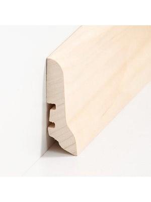 Südbrock Sockelleiste Holzkern Ahorn lackiert Holz-Fussleiste, Holzkern mit Echtholz furniert